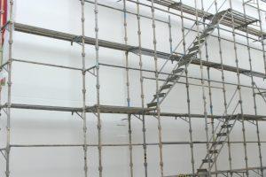 外壁塗装 足場設置